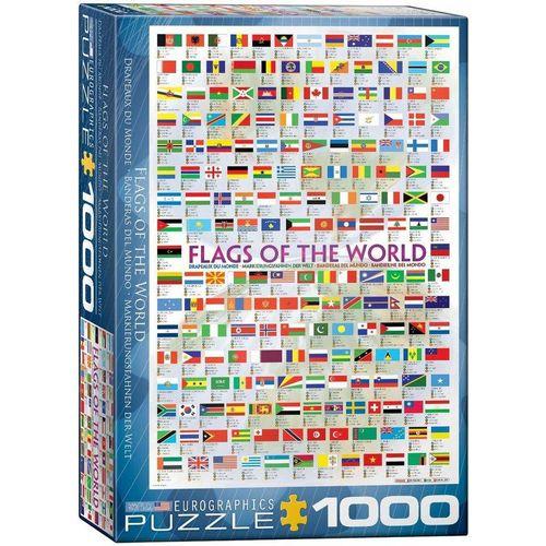 empireposter Puzzle »Flaggen der Welt