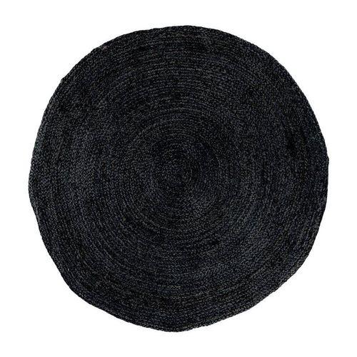 Teppich »Broom Teppich Ø180 cm in Jute dunkelgrau.«, ebuy24, Höhe 1 mm