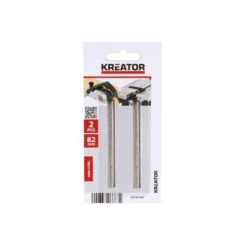 Kreator Hobelmesser »Kreator 2 Ersatz-Hobelmesser 82mm Ersatzmesser Klingen für POWX111 und POWXQ5502«