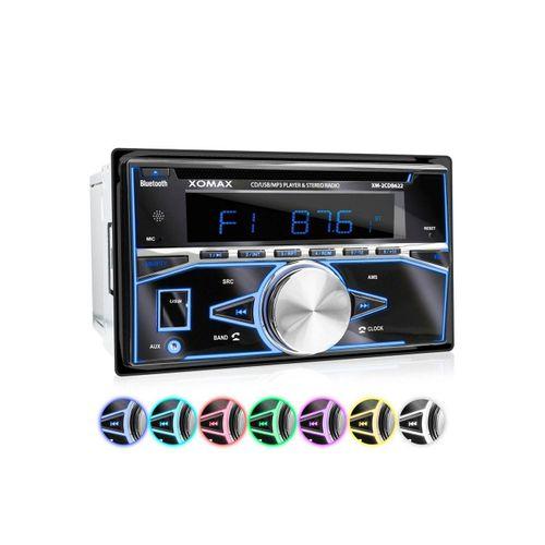 XOMAX Autoradio (XOMAX XM-2CDB622 2DIN Autoradio mit USB, CD und Bluetooth)