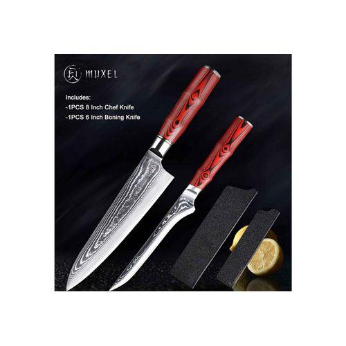 Muxel Messer-Set »Messer Set Damaskus Kochmesser und Ausbeinmesser