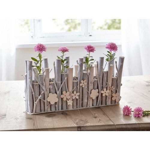 HomeLiving Dekoobjekt »Holzblume«, weiß