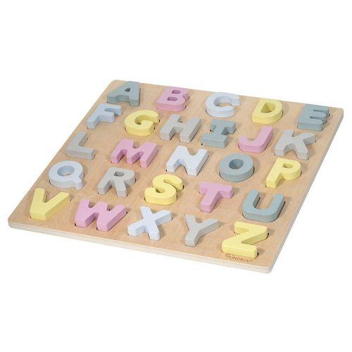 Kindsgut Puzzle »ABC-Puzzle«, 26 Puzzleteile, Buchstaben, Alphabet, Motorik, Hanna, Buchstaben-Lern-Puzzle aus Holz für Babys und Kleinkinder, bunt