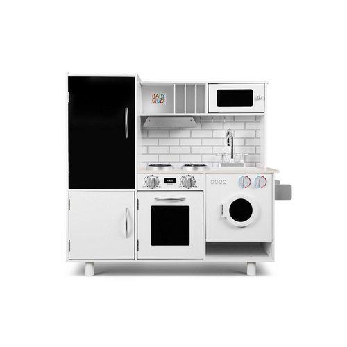 Baby Vivo Spielküche »Kinderküche Spielküche aus Holz - Bruno mit Tafel in Weiß«