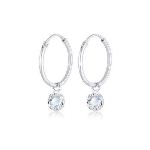 Elli Paar Ohrhänger »Creolen Kristalle Einhänger 925 Silber
