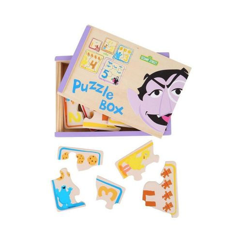 Small Foot Puzzle »Sesamstrasse Puzzle-Box«, 16 Puzzleteile