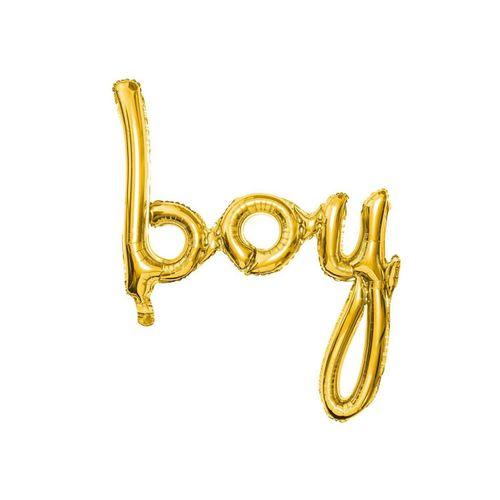 partydeco Luftballon, Folienballon Boy / Babyparty 74cm, gold