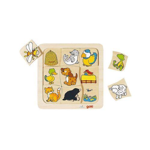 goki Puzzle »Holzspiel: Wer lebt wo?«, Puzzleteile