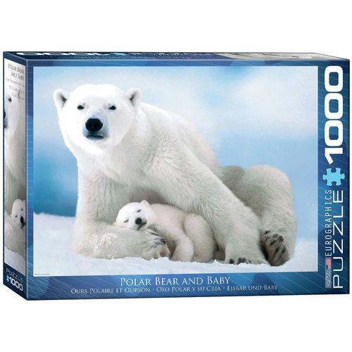 empireposter Puzzle »Eisbären Mama mit schlafendem Baby