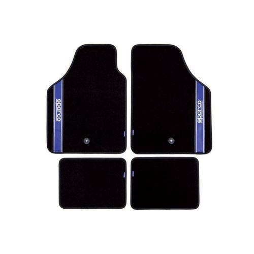 Fußmatte, dynamic24, Sparco Automattenset 4tlg. Fußmatten Teppich Matten Set Gummimatten Autoteppich, schwarz