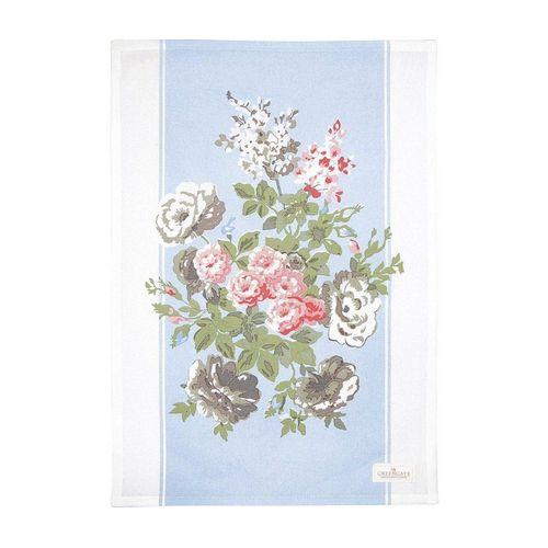 Greengate Geschirrtuch »Greengate Geschirrtuch PETRICIA Pale Blue Blau mit Blumen«