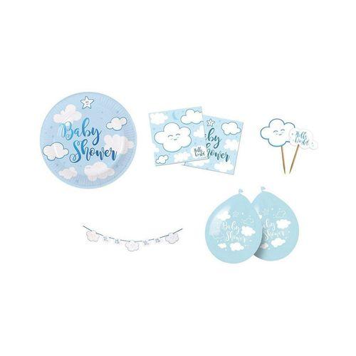 Folat Kindergeschirr-Set »Partyset Baby Shower Pink, 61-tlg.«, blau