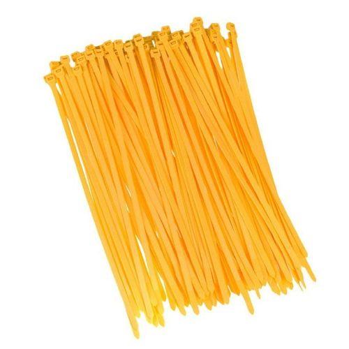 HaGa Kabelbinder »100 Stück Kabelbinder 200mm x 2,5mm in gelb« (100-St), gelb