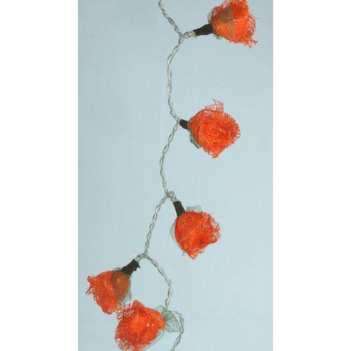 Guru-Shop LED-Lichterkette »Bast Rosen LED Lichterkette 20 Stk. - orange«