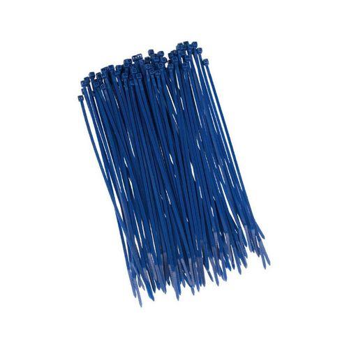 HaGa Kabelbinder »100 Stück Kabelbinder 200mm x 2,5mm in blau« (100-St), blau