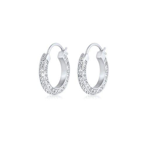 Elli Premium Paar Creolen »Creolen Kristall 925 Silber