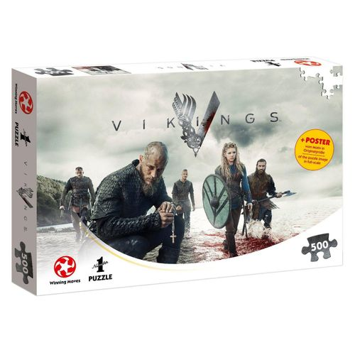 Winning Moves Steckpuzzle »Puzzle Vikings The World Will be Ours 500 Teile«, 500 Puzzleteile, beige