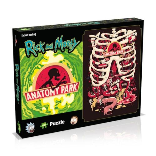 Winning Moves Steckpuzzle »Rick and Morty »Anatomy Park« Puzzle (1000 Teile)«, 1000 Puzzleteile