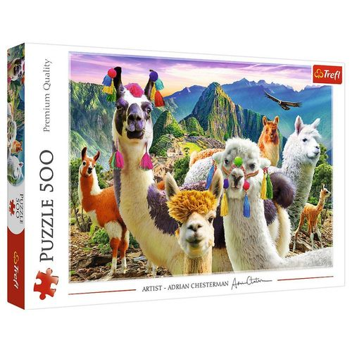 Trefl Puzzle »Trefl 37383 Lamas in den Bergen 500 Teile Puzzle«, 500 Puzzleteile
