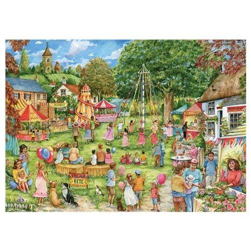 Otter House Puzzle »Debbie Cook Village Fete 1000 Teile Puzzle«, Puzzleteile