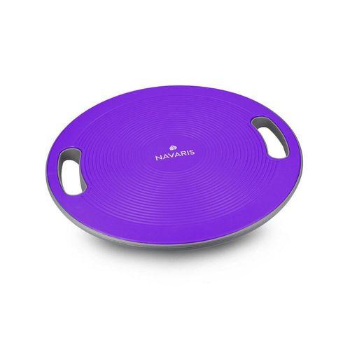 Navaris Balanceboard, Therapiekreisel mit Griff - Therapie Kreisel Stepper - Fitness Reha Balance Kraft Training - Sport Board Ø 40cm, lila