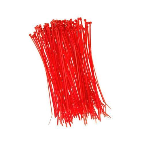 HaGa Kabelbinder »100 Stück Kabelbinder 200mm x 2,5mm in rot« (100-St), rot