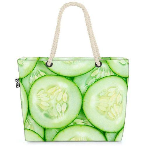 VOID Strandtasche (1-tlg), Gurken Gemüse Kochen Gurken Gemüse Kochen Salat Küche Salatgurke Grün