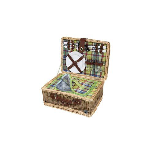 Cilio Picknickkorb »Picknickkorb für 2 Personen MELANO«, Picknickkorb