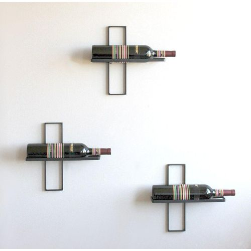 DanDiBo Weinregal »Weinregal D3 aus Metall Flaschenständer 3er Set Wandregal Flaschenregal Regal«