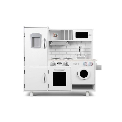 Baby Vivo Spielküche »Kinderküche Spielküche aus Holz - Bruno in Weiß«