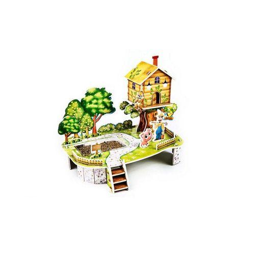 Fun4Kids Puzzle »3D Puzzle Mein Obstbaum mit einem echten Beet«, 35 Puzzleteile