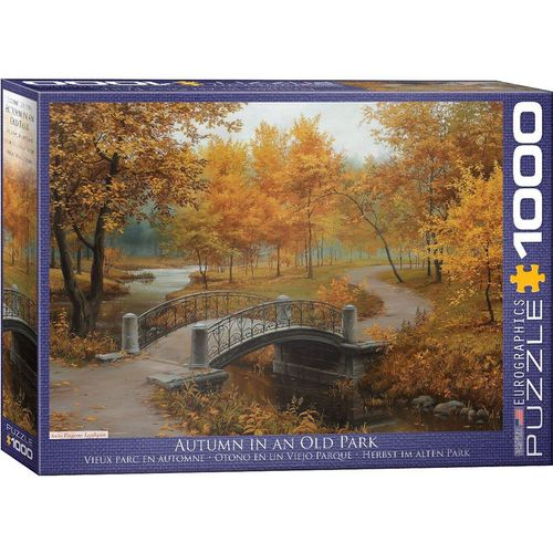 empireposter Puzzle »Die Brücke im herbstlichen Park - 1000 Teile Puzzle im Format 68x48 cm«, Puzzleteile