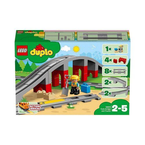 LEGO® Konstruktions-Spielset »LEGO® DUPLO® 10872 Eisenbahnbrücke und Schienen«