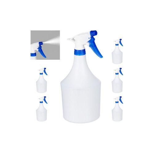 relaxdays Sprühflasche »6x Sprühflasche in Blau«