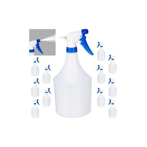 relaxdays Sprühflasche »12x Sprühflasche in Blau«