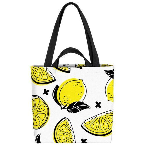 VOID Henkeltasche (1-tlg), Sommer Zitronen Zitrone Südfrüchte Saft Limo Limonade Obst Früchte Essen