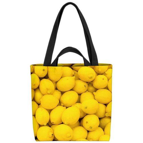 VOID Henkeltasche (1-tlg), Zitronen Lemons Küche Gelb Zitrone Südfrüchte Saft Limo Limonade Obst