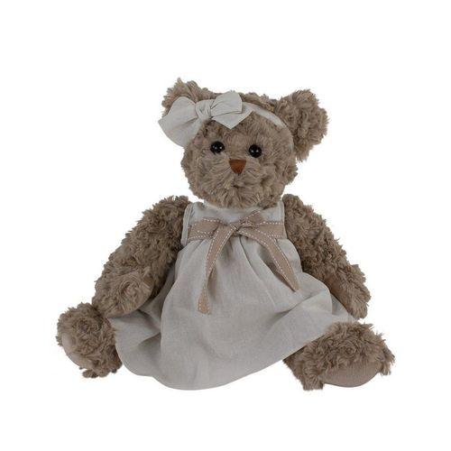 Bukowski Kuscheltier »Teddybär Bella Luna mit Kleid 40 cm grau« (Teddydame Teddybärin, Teddys Teddybären)