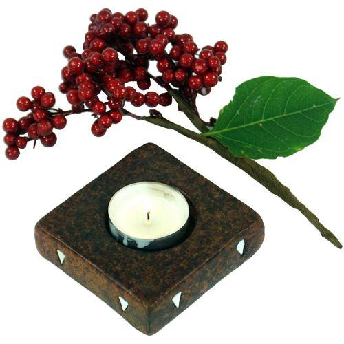 Guru-Shop Windlicht »Kerzenhalter, Teelichthalter Keramik Nr.2«