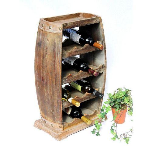 DanDiBo Weinregal »Weinregal Holz Weinfass 1549 Bar Flaschenständer 70 cm für 13 Fl. Regal Fass Holzfass«