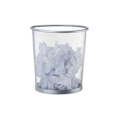 relaxdays Papierkorb »Papierkorb rund Drahtgeflecht«