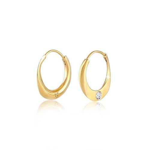 Elli Premium Paar Creolen »Creolen Trend Kristall 925 Silber