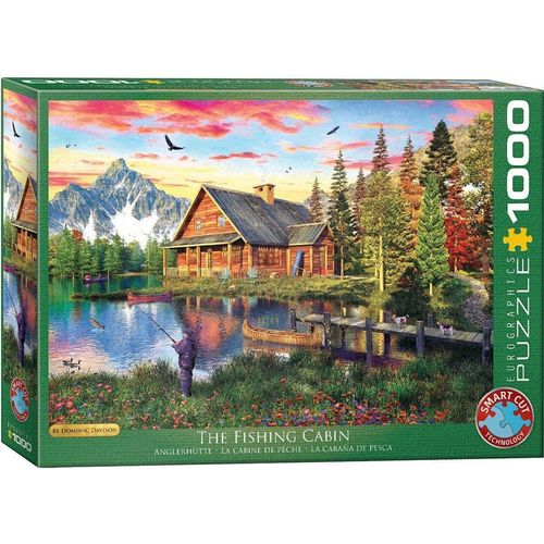 empireposter Puzzle »Dominic Davison - Angeln am Fluß - 1000 Teile Puzzle im Format 68x48 cm«, Puzzleteile