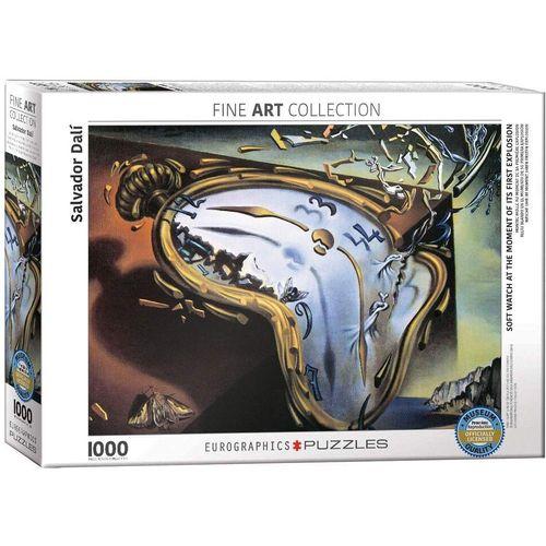 empireposter Puzzle »Salvador Dali - Weiche Uhr im Moment ihrer Explosion - 1000 Teile Puzzle 68x48 cm«, Puzzleteile
