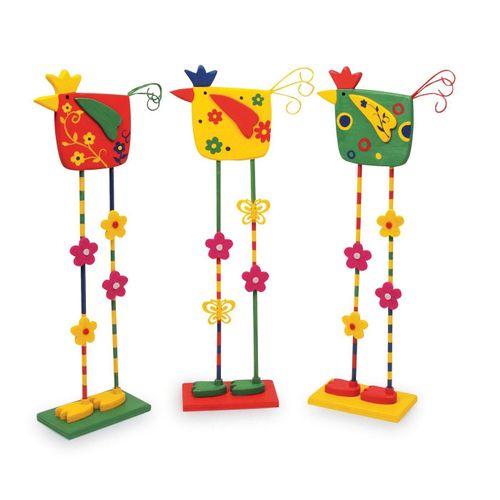 Small Foot Dekofigur »Deko-Vögel 3er Set«, Holz Dekofiguren