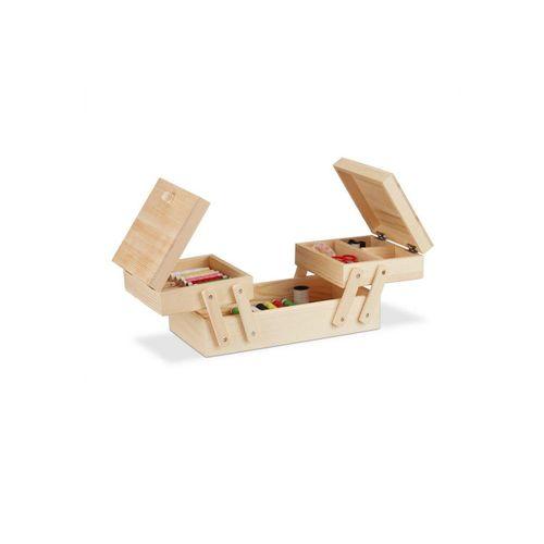 relaxdays Nähkästchen »Nähkästchen Holz«