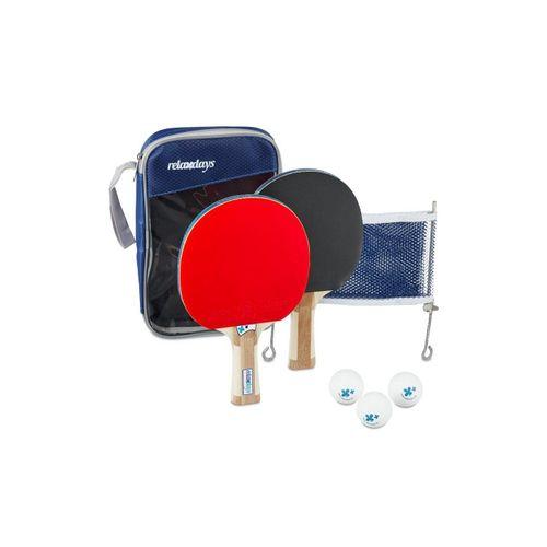 relaxdays Tischtennisschläger »Tischtennis Set mit Netz