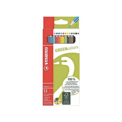 STABILO Buntstift »GREENcolors«, (12-tlg), aus FSC-zertifiziertem Holz