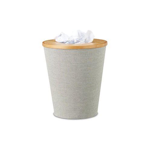 relaxdays Papierkorb »Abfallkorb Bambus rund«