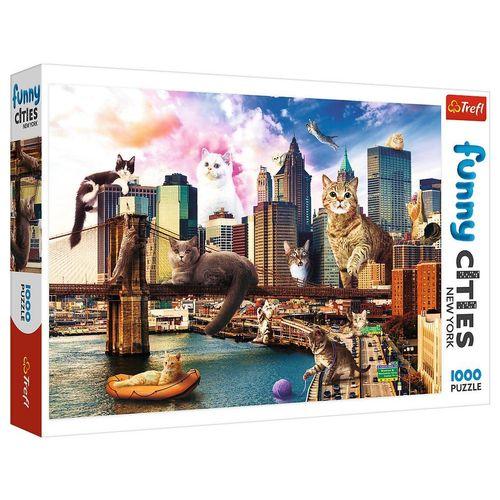 Trefl Puzzle »Funny Cities Katzen in New York 1000 Teile Puzzle